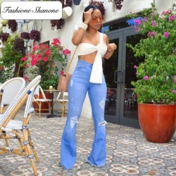 Fashione Shanone - Flared destroy jeans