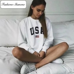 Fashione Shanone - Sweat blanc USA
