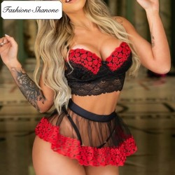 Fashione Shanone - Hearts 3 pieces lingerie set