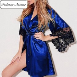Fashione Shanone - Satin and lace dressing gown