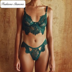 Fashione Shanone - Green lace lingerie set