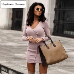 Fashione Shanone - Ribbed dress with buttons