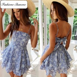 Fashione Shanone - Floral blue dress