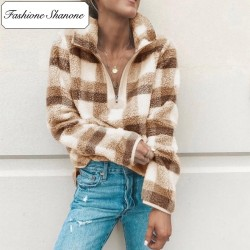 Fashione Shanone - Plaid polaire sweat