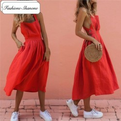 Fashione Shanone - Red maxi dress