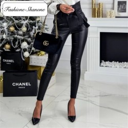 Fashione Shanone - High waist leather pants