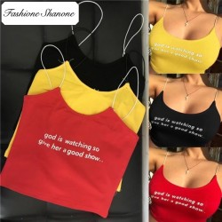Fashione Shanone - Crop top with text