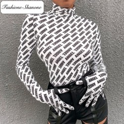 Fashione Shanone - Long sleeves T-shirt with gloves