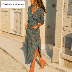 Fashione Shanone - Maxi tiger dress