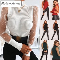 Fashione Shanone - Pull avec manches transparentes