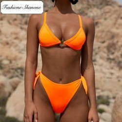 Fashione Shanone - Bikini taille haute orange