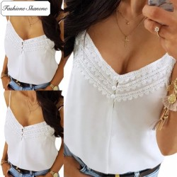 White top with lace