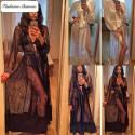 Lace and satin dressing gown