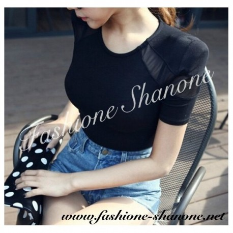 305 - Shoulder pads T-shirt with thin gauze