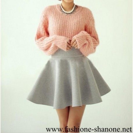 305 - Grey puff skirt