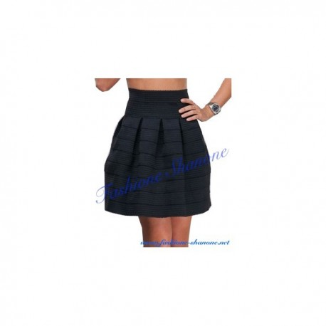 305 - Wave striped high waist ball skirt