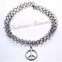 Collier ras-du-cou tatoo peace