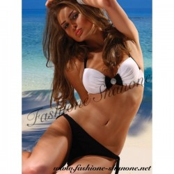 305 - Jewelery bow knot push up swimsuit