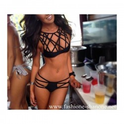 305 - High waist swimsuit with strip