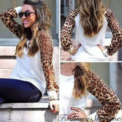 White and leopard sweat