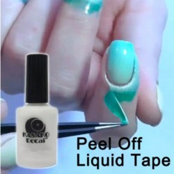 White liquid that takes off the polish on the skin