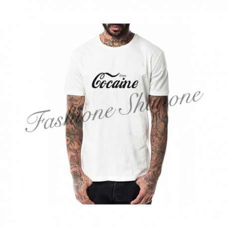 Niggas in Paris - ENJOY COCAINE letter printed t-shirt